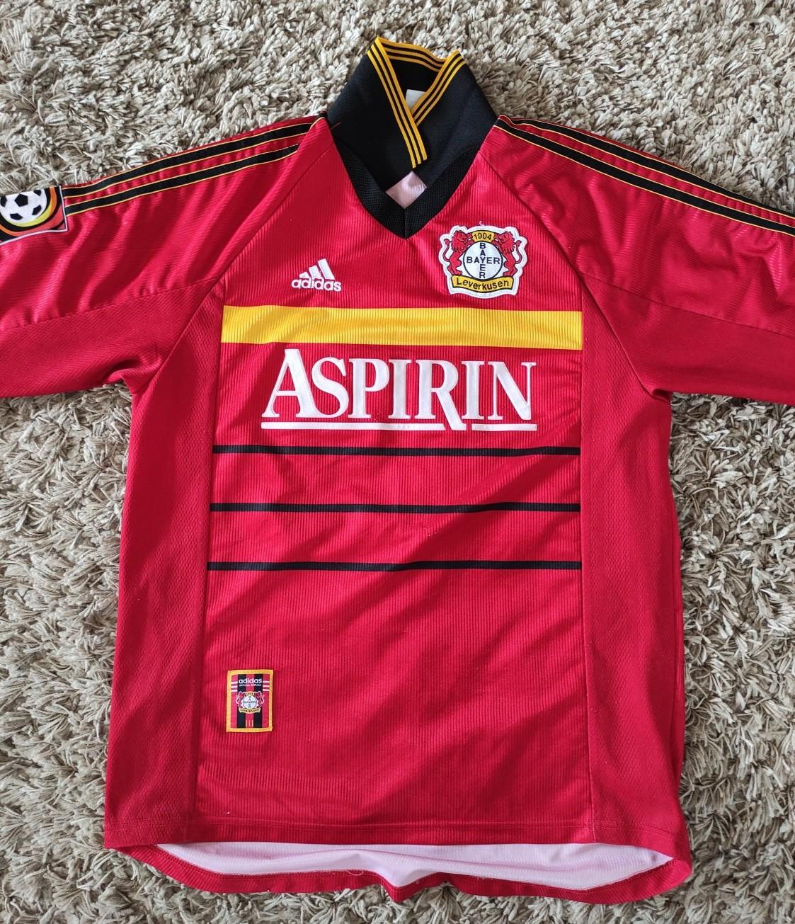 Bayer 04 Leverkusen Home maglia di calcio 1998 - 2000. Sponsored ...