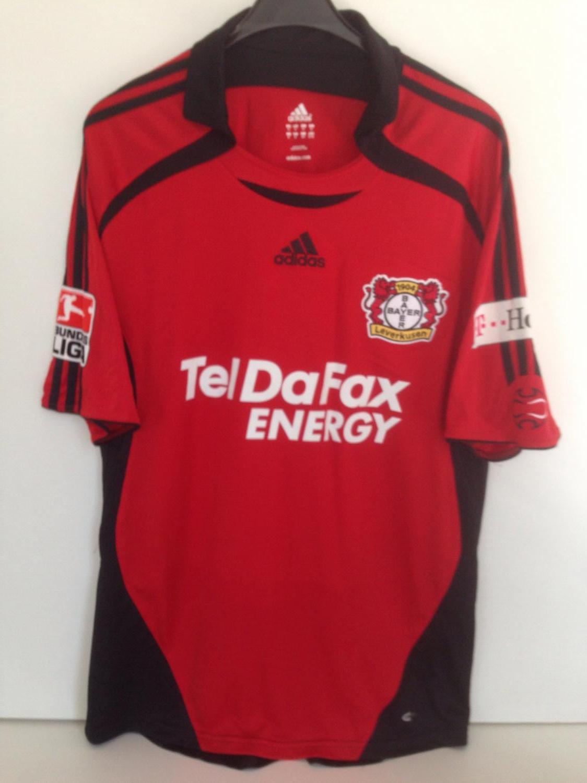 Bayer 04 Leverkusen Home maglia di calcio 2007 - 2008. Sponsored ...