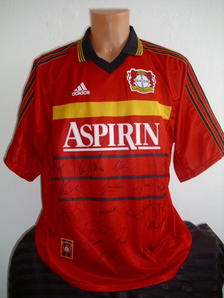 Bayer 04 Leverkusen Home football shirt 1998 - 2000. Added ...