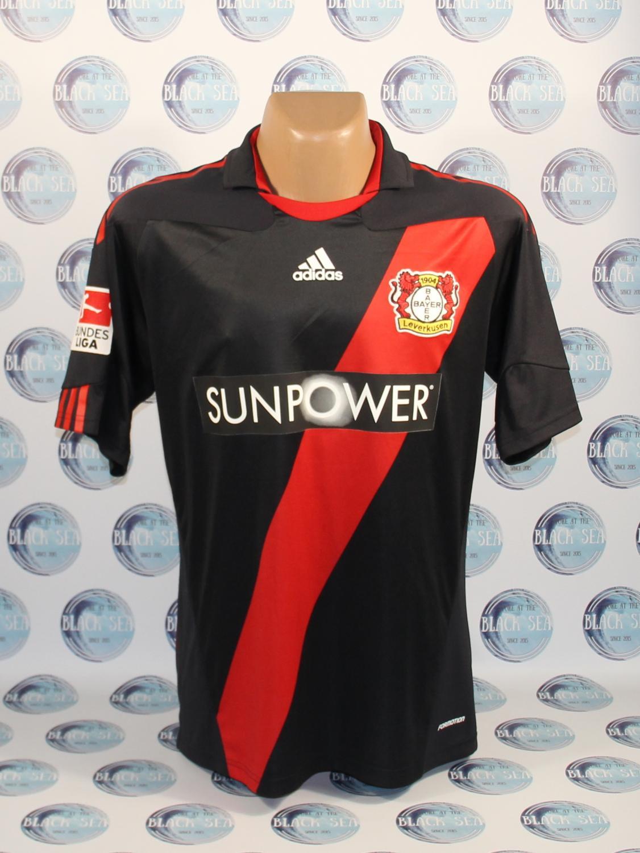 Bayer 04 Leverkusen Home football shirt 2011 - 2012. Sponsored by ...