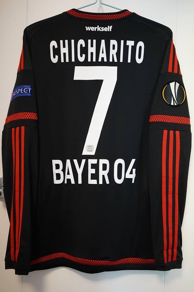 Bayer 04 Leverkusen Home maglia di calcio 2015 - 2016. Sponsored by LG