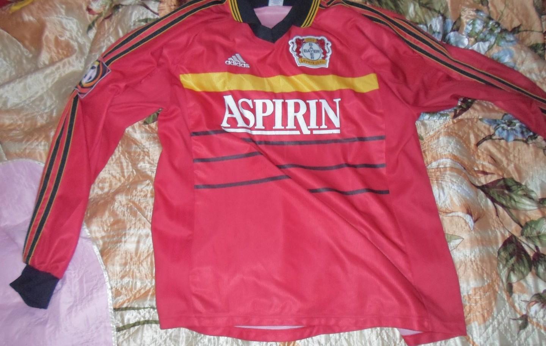 Bayer 04 Leverkusen Home football shirt 1998 - 2000. Sponsored by ...