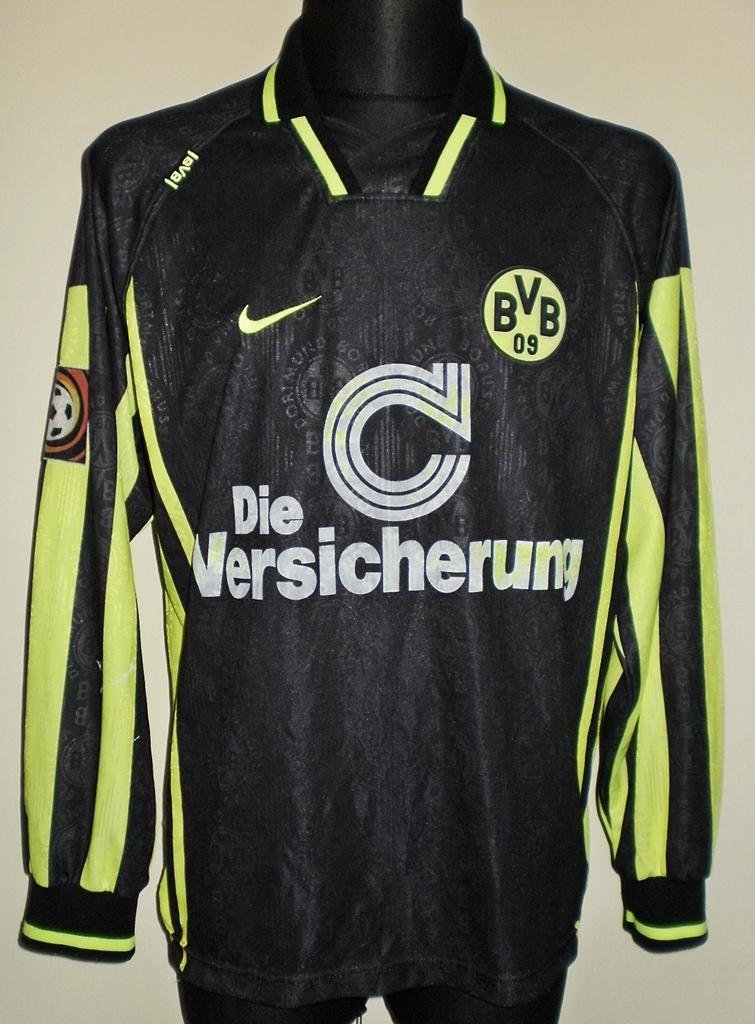 Borussia Dortmund Away חולצת כדורגל 1996 1997 Sponsored By Die