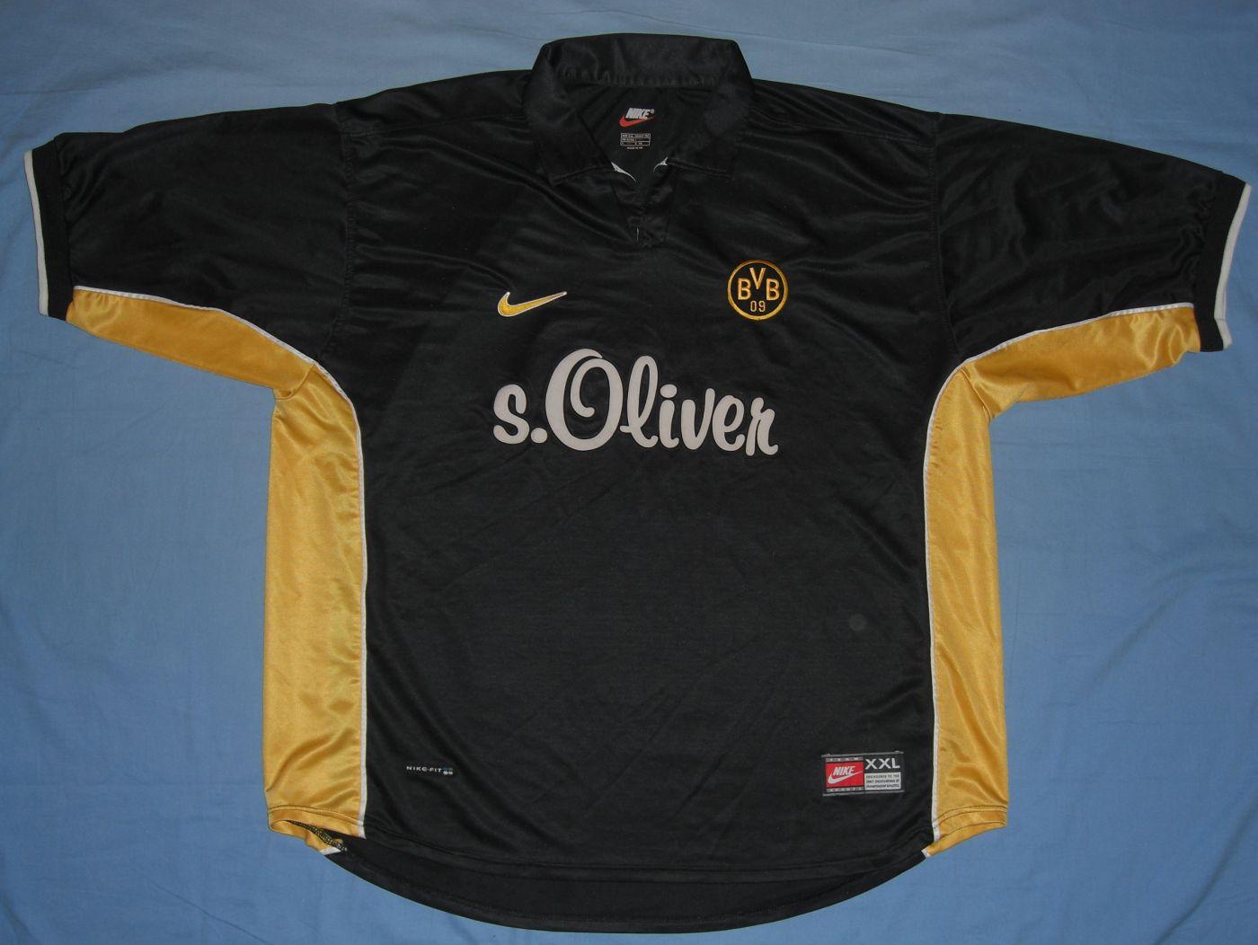 Borussia Dortmund Away football shirt 1998 - 2000. Sponsored by s ...