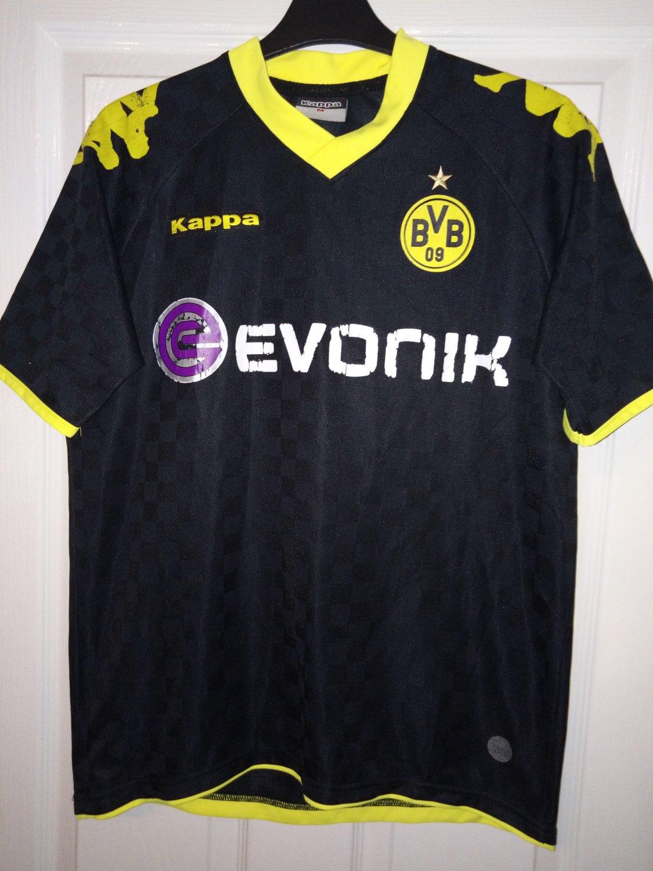Borussia Dortmund Away football shirt 2010 - 2011. Sponsored by Evonik