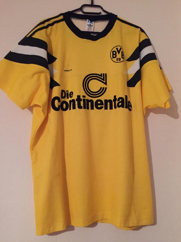Borussia Dortmund Cup Shirt Football Shirt 1989 Sponsored By Die Continentale