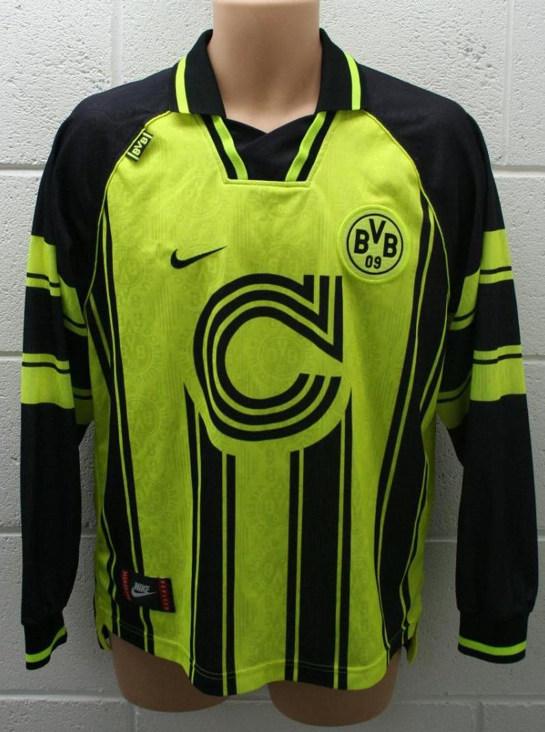 Borussia Dortmund Cup Shirt Football Shirt 1995 1997 Sponsored By Die Continentale