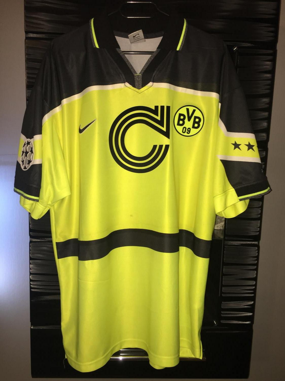 Borussia Dortmund Cup Shirt Football Shirt 1997 Sponsored By Die Continentale