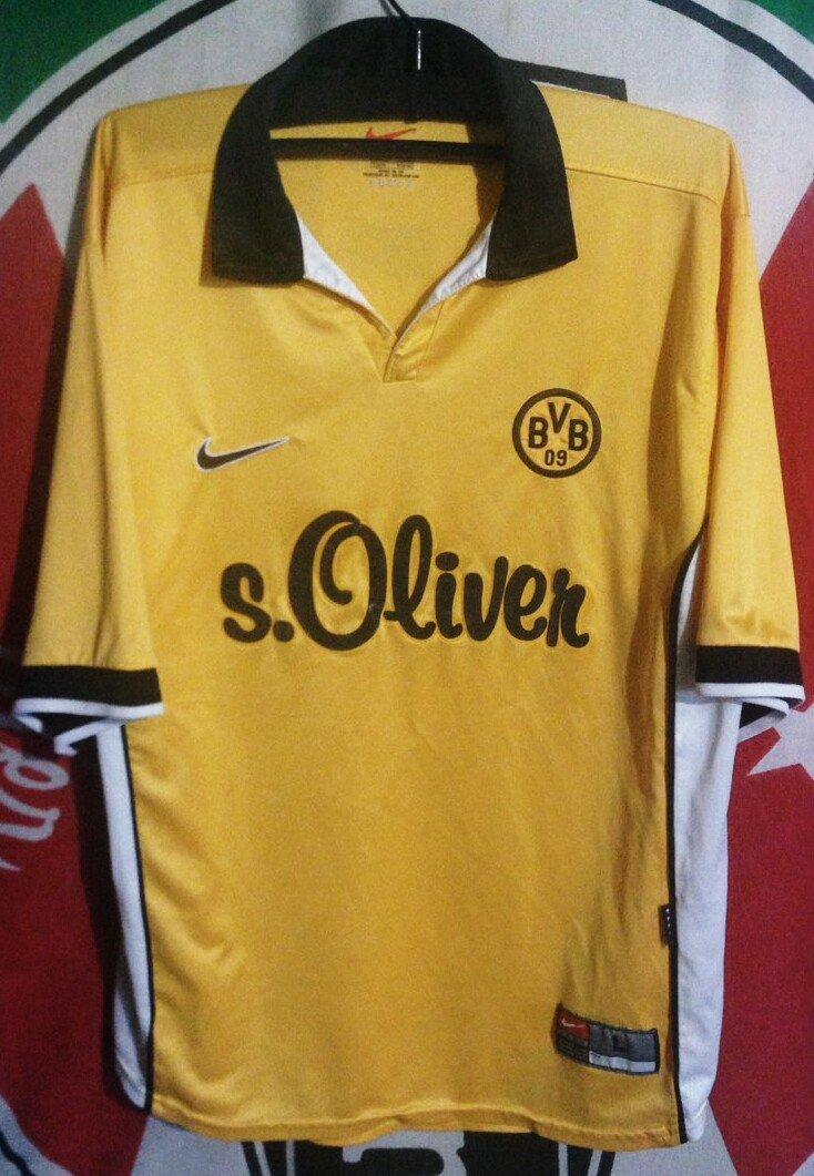 f3deda5fe Borussia Dortmund Home camisa de futebol 1988 - 2000. Sponsored by s ...