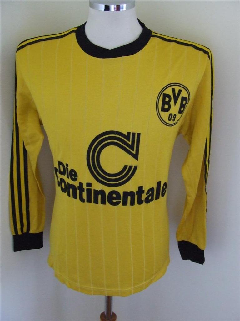 new arrival 6c938 13dde Borussia Dortmund Home Maillot de foot 1989 - 1990 ...