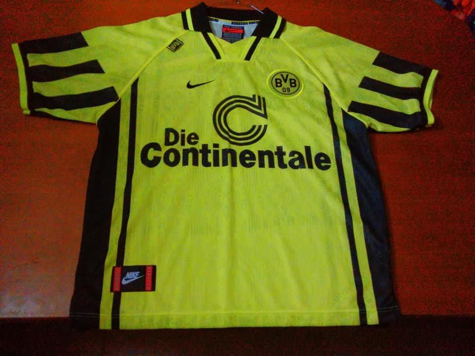 Borussia Dortmund Home maglia di calcio 1996 - 1997.