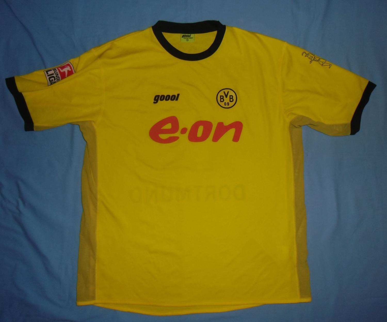 Borussia Dortmund Home football shirt 2003 - 2004. Sponsored by e.on