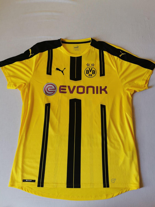 Borussia Dortmund Home maglia di calcio 2016 - 2017. Sponsored by ...