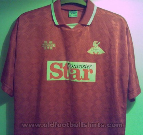 Doncaster Rovers Home Fußball-Trikots 1994 - 1995