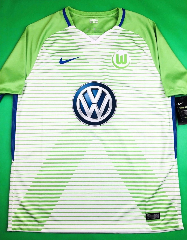 sale retailer 43576 6dccc VfL Wolfsburg Home football shirt 2017 - 2018. Sponsored by ...
