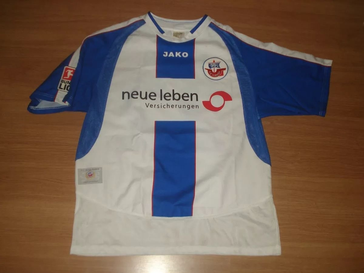 Hansa Rostock Trikot Pin Badge Away 2005 2006  neue Leben
