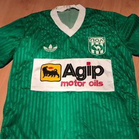 Pezoporikos Larnaca FC Home Maillot de foot 1980 - ? sponsored by Agip