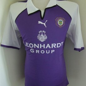 Erzgebirge Home football shirt 2004 - 2005 sponsored by Leonhardt Group