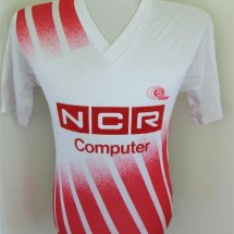Augsburg Home baju bolasepak (unknown year) sponsored by NCR