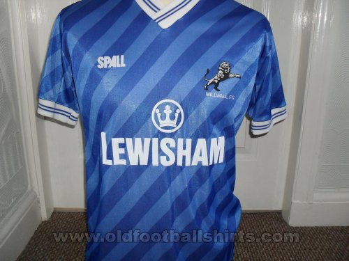 Millwall Thuis  voetbalshirt  1987 - 1989