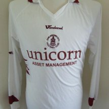 Chelmsford City Away football shirt 2007 - 2008 sponsored by Unicorn Asset Managment