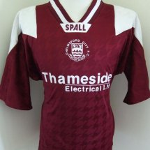 Chelmsford City Home football shirt (unknown year) sponsored by Thameside Electrical Ltd