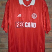 Chelmsford City Home football shirt 1997 - 1998 sponsored by Red Card