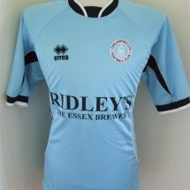 Chelmsford City Away football shirt 2003 - 2004 sponsored by Ridley's