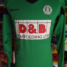 Chelmsford City Goalkeeper football shirt (unknown year) sponsored by D&B Scaffolding Ltd