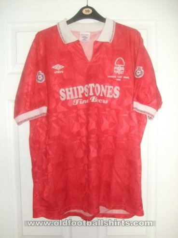 Nottingham Forest Home baju bolasepak 1991 - 1992