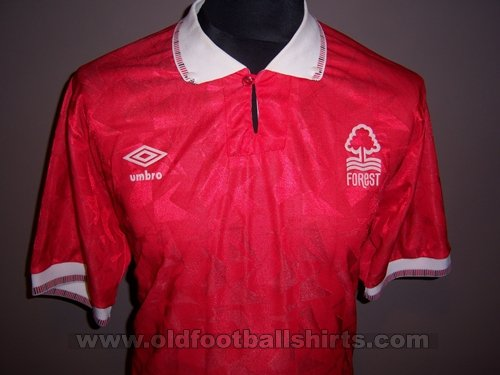 Nottingham Forest Local Camiseta de Fútbol 1990 - 1991