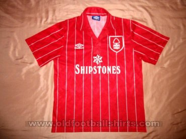 Nottingham Forest Home baju bolasepak 1990 - 1991