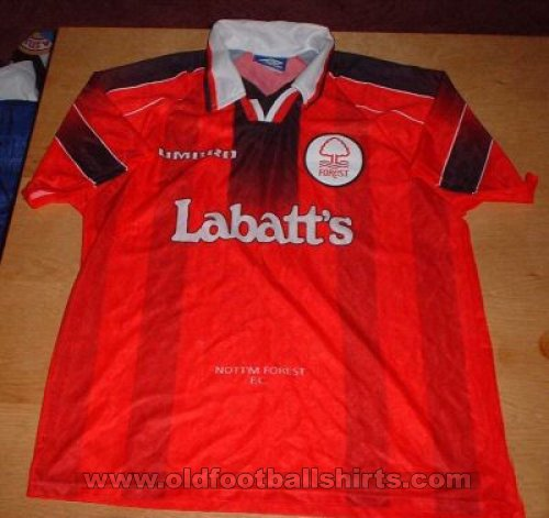 Nottingham Forest Home football shirt 1996 - 1997