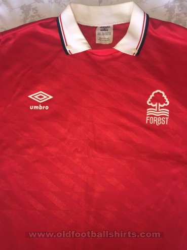 Nottingham Forest Home football shirt 1988 - 1990