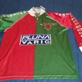 Club Atlético Boston River Home maglia di calcio 2001 sponsored by Pluna Varig
