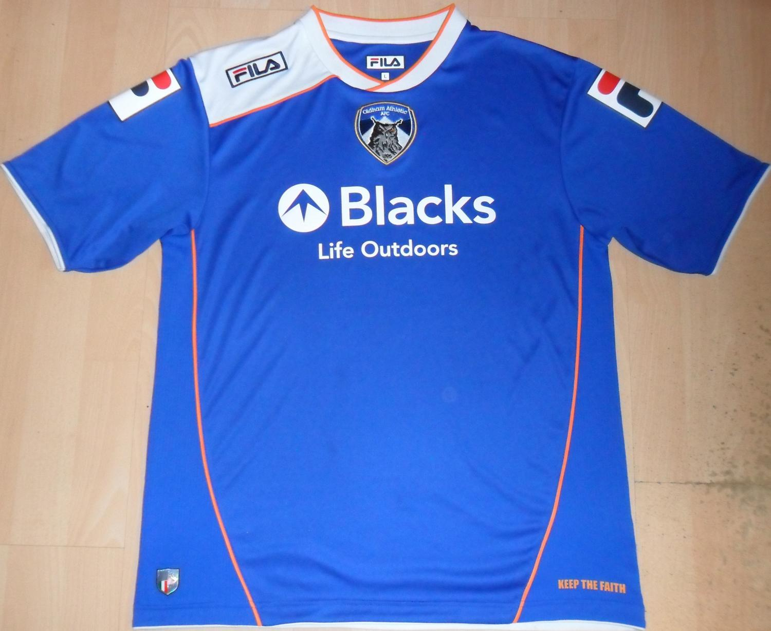 Oldham Athletic Match Worn football tops shirt Unwashed 2000 2002 Reserves TEAM