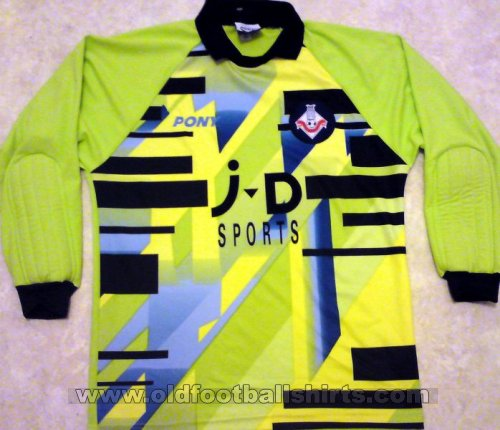Oldham Athletic Goalkeeper Maillot de foot 1996 - 1998