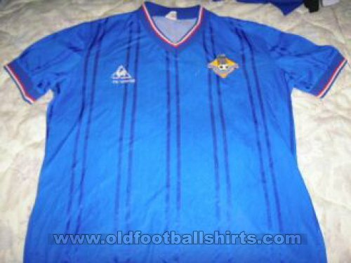Oldham Athletic Home Maillot de foot 1984 - 1985