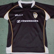 Port Vale Away Fußball-Trikots 2007 - 2008 sponsored by Sennheiser