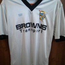 Port Vale Home Fußball-Trikots 1986 - 1987 sponsored by Browns Transport