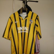 Port Vale Away Fußball-Trikots 1996 - 1997 sponsored by Tunstall Assurance
