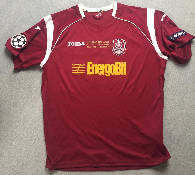 Cfr Cluj: CFR 1907 Cluj Home Football Shirt 2010
