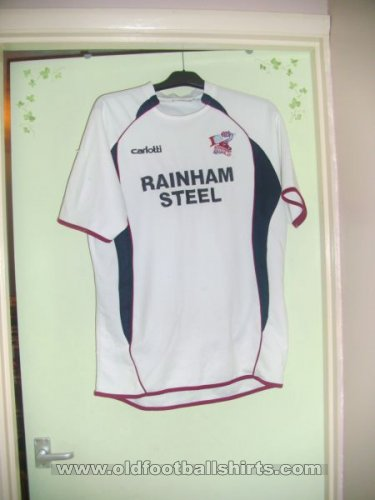 Scunthorpe United Away baju bolasepak 2007 - 2009
