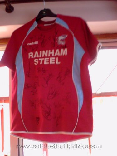 Scunthorpe United Home football shirt 2007 - 2009