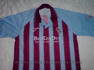 Scunthorpe United Home Fußball-Trikots 1991 - 1992