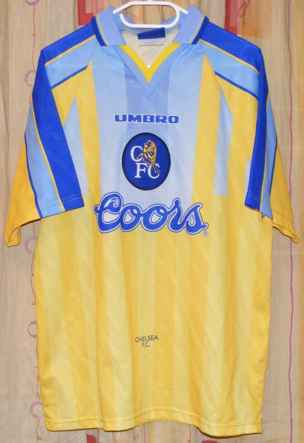Chelsea Away football shirt 1996 - 1997. Sponsored by Coors