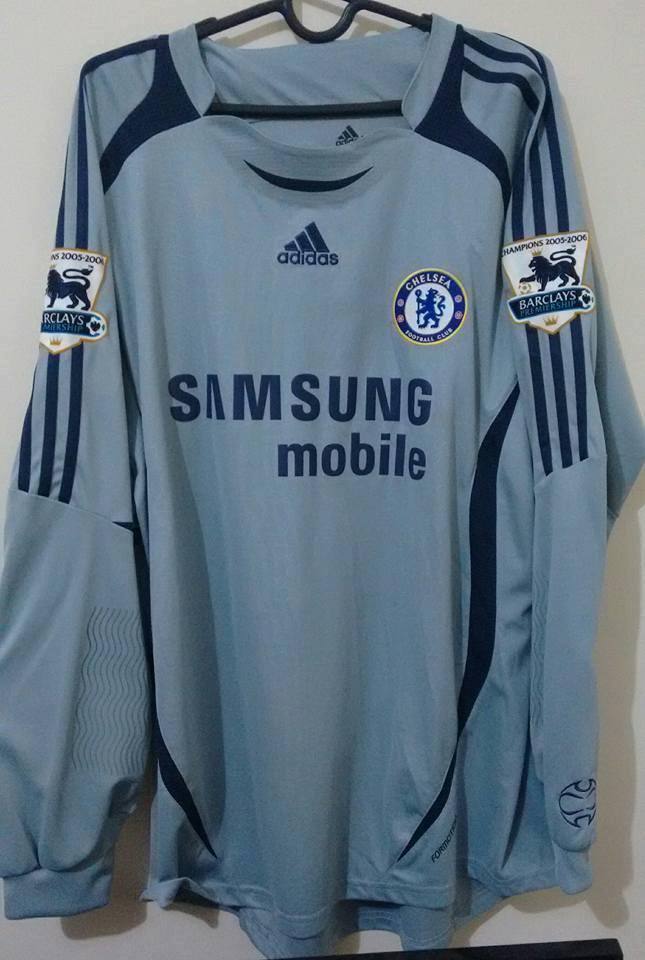 buy popular be89c bc19f Chelsea Goalkeeper חולצת כדורגל 2006 - 2008. Sponsored by ...