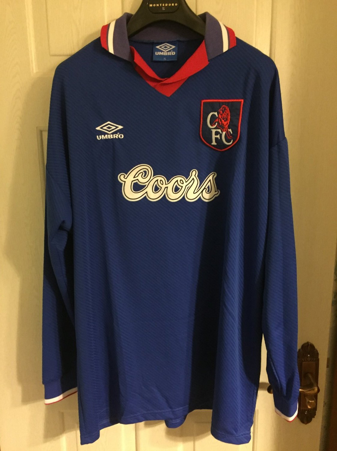 outlet store adaec 446f2 Chelsea Home football shirt 1994 - 1995. Sponsored by Coors