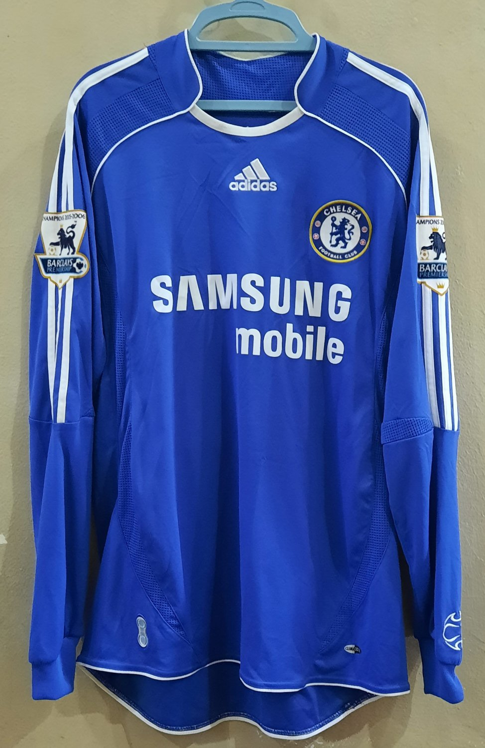 new style 2ff2e 4ec57 Chelsea Home Maillot de foot 2006 - 2008. Sponsored by ...