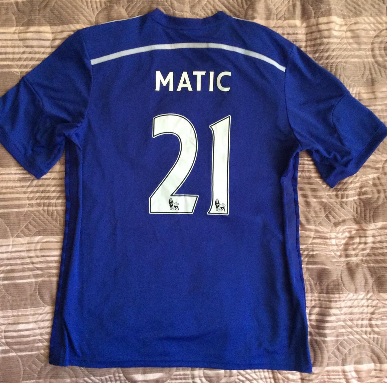 Chelsea Home football shirt 2014 - 2015. Sponsored by Samsung